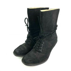 Latigo Ankle Boot 7.5 Portland Lace And Zip Anthro